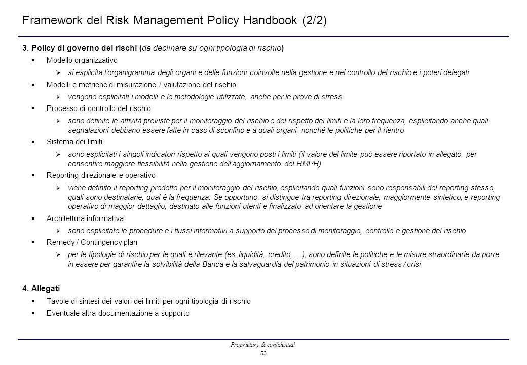 Framework del Risk Management Policy Handbook (2/2)
