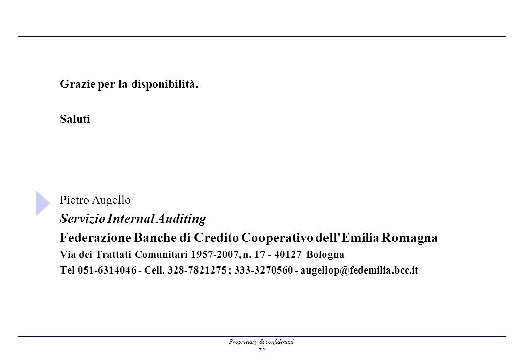 Servizio Internal Auditing