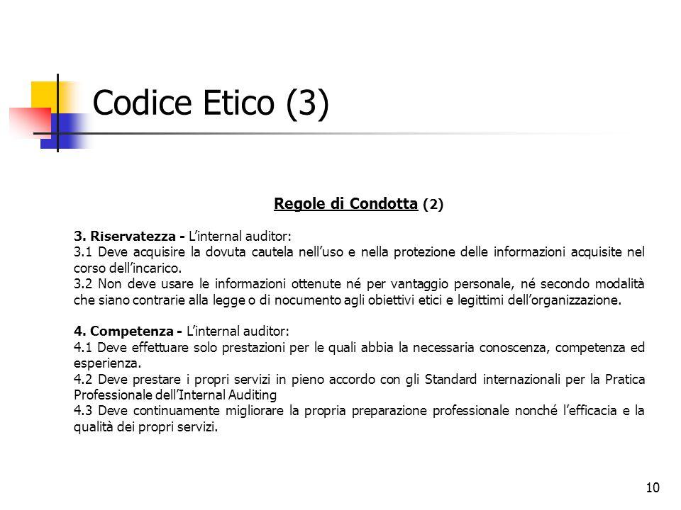 Codice Etico (3) Regole di Condotta (2)