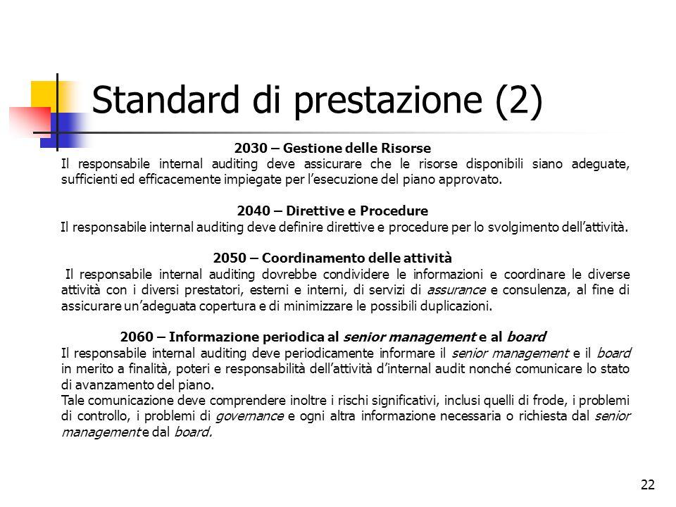 Standard di prestazione (2)