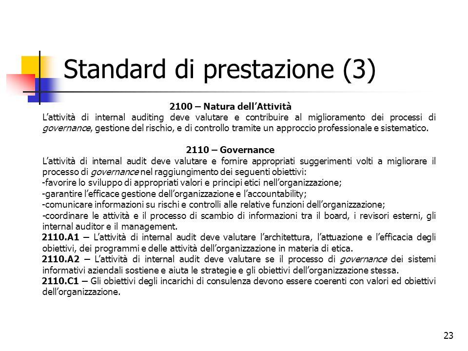 Standard di prestazione (3)