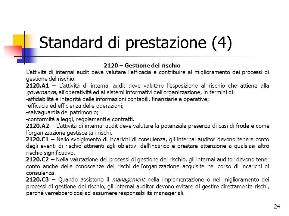 Standard di prestazione (4)