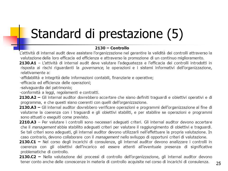 Standard di prestazione (5)