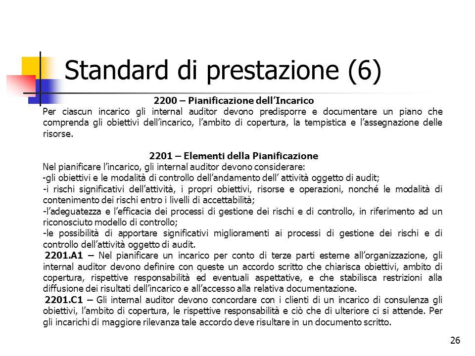 Standard di prestazione (6)