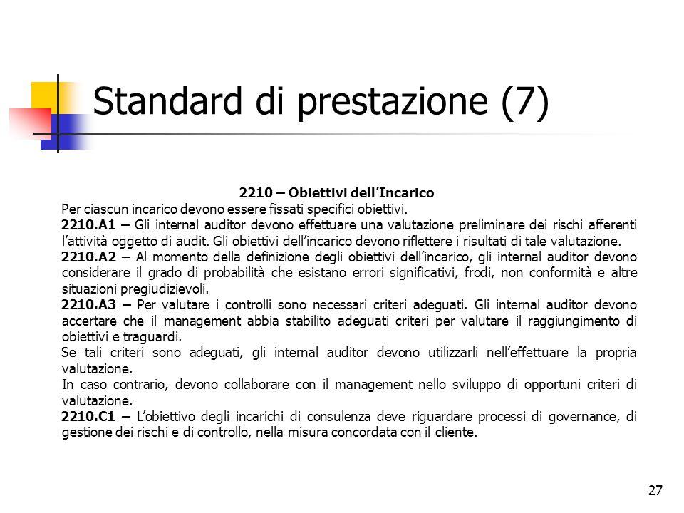 Standard di prestazione (7)