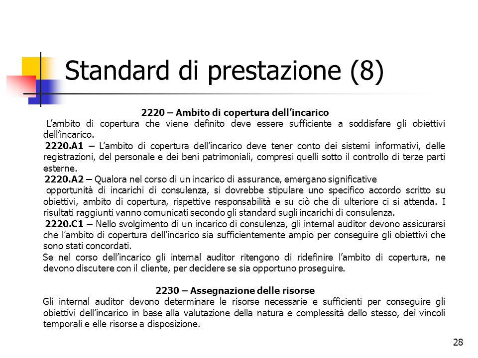 Standard di prestazione (8)