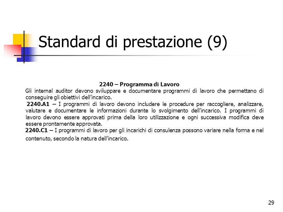 Standard di prestazione (9)