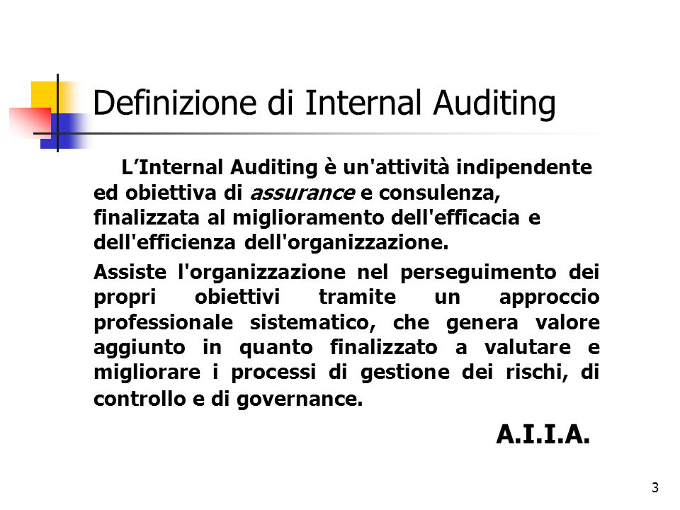 Definizione di Internal Auditing