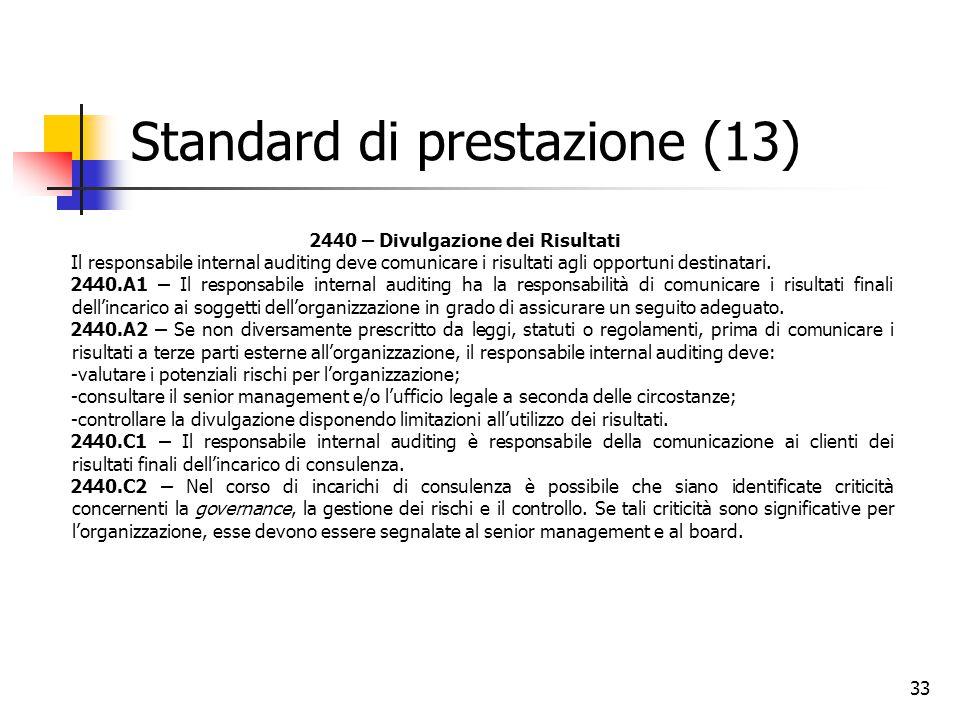 Standard di prestazione (13)