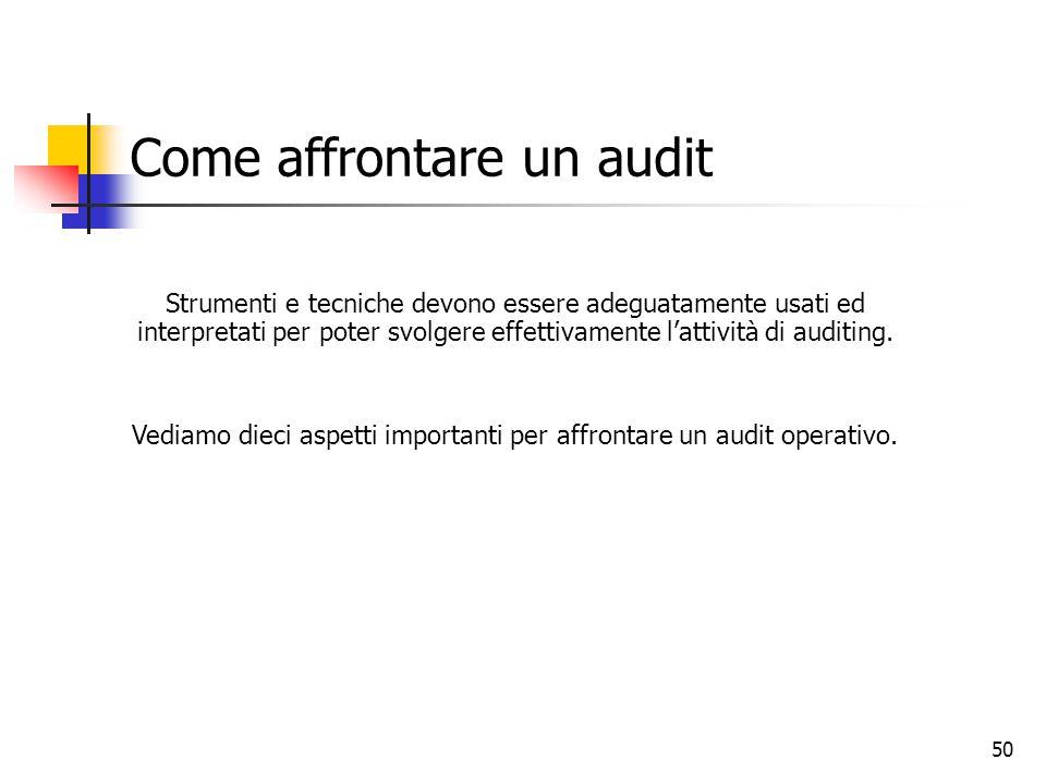 Come affrontare un audit