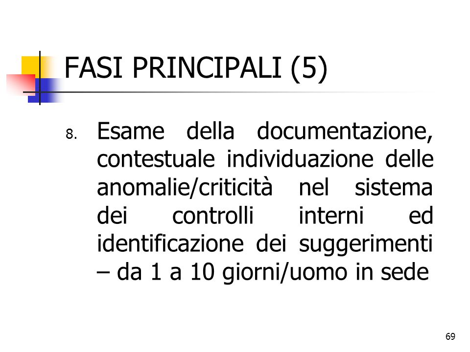 FASI PRINCIPALI (5)