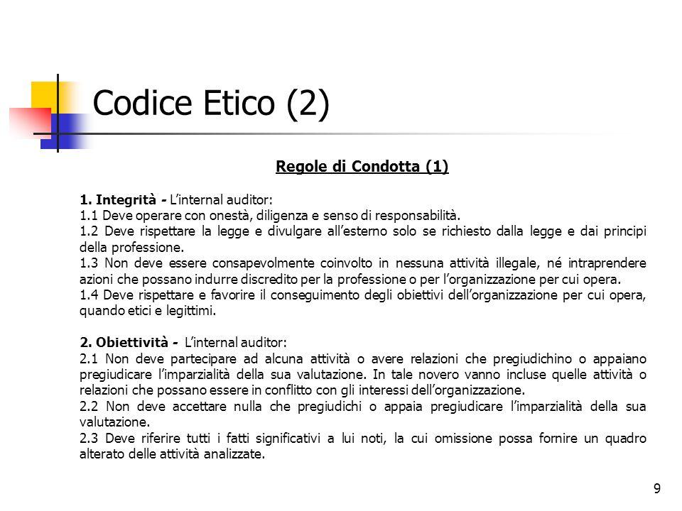 Codice Etico (2) Regole di Condotta (1)
