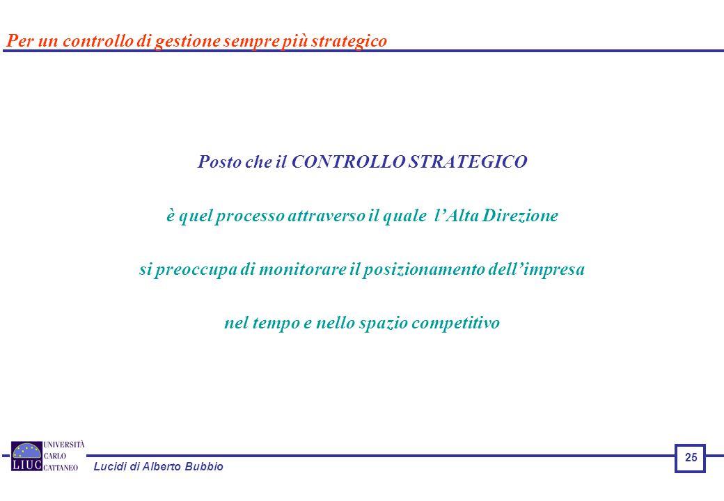 Per un controllo di gestione sempre più strategico