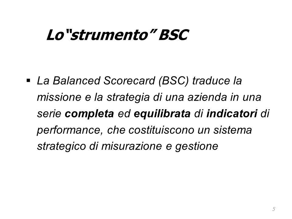 Lo strumento BSC