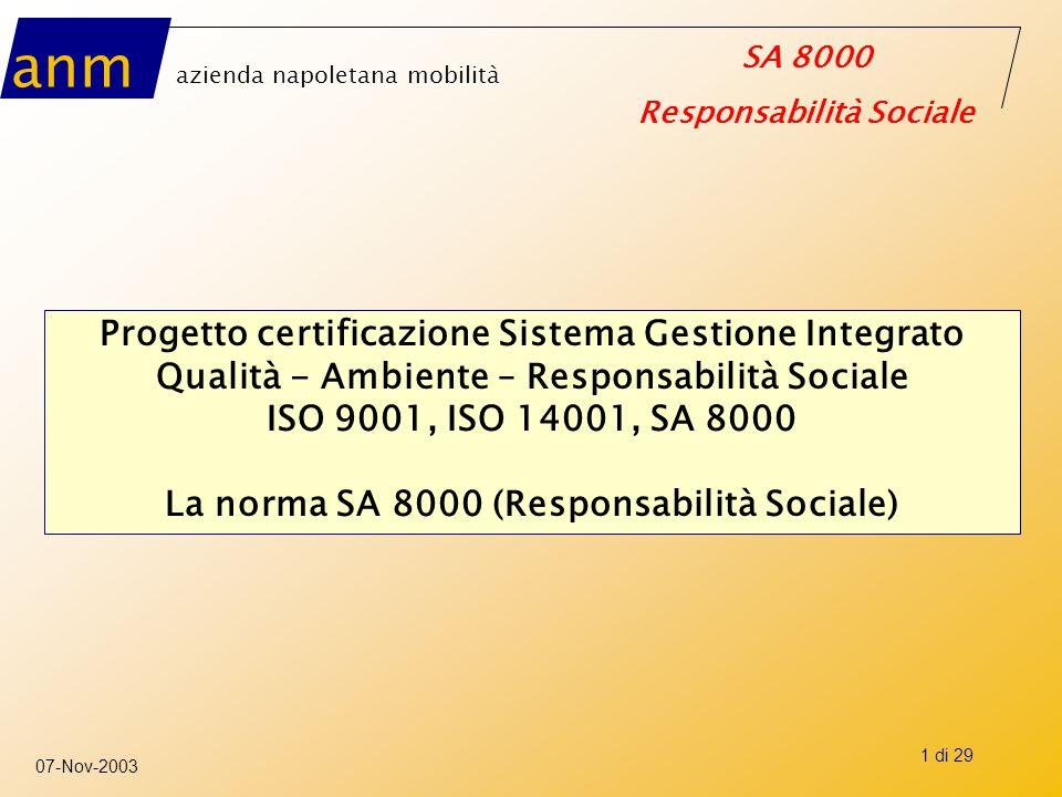 Progetto certificazione Sistema Gestione Integrato
