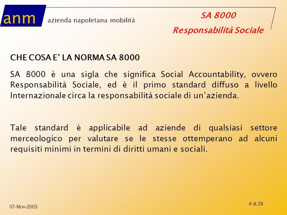 CHE COSA E' LA NORMA SA 8000