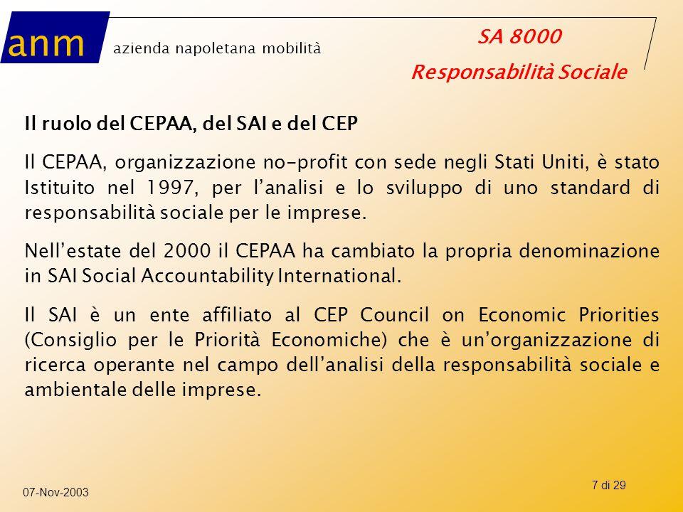 Il ruolo del CEPAA, del SAI e del CEP