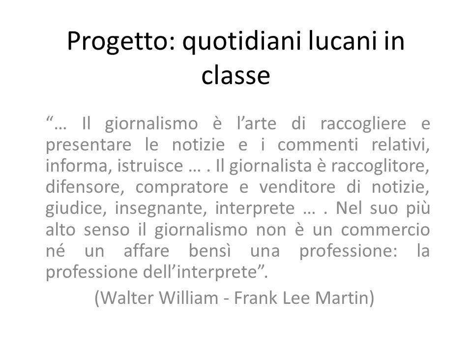 Progetto: quotidiani lucani in classe