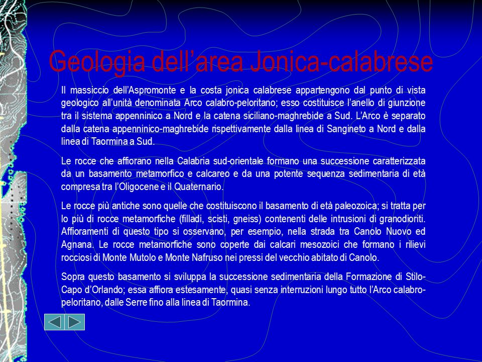 Geologia dell'area Jonica-calabrese