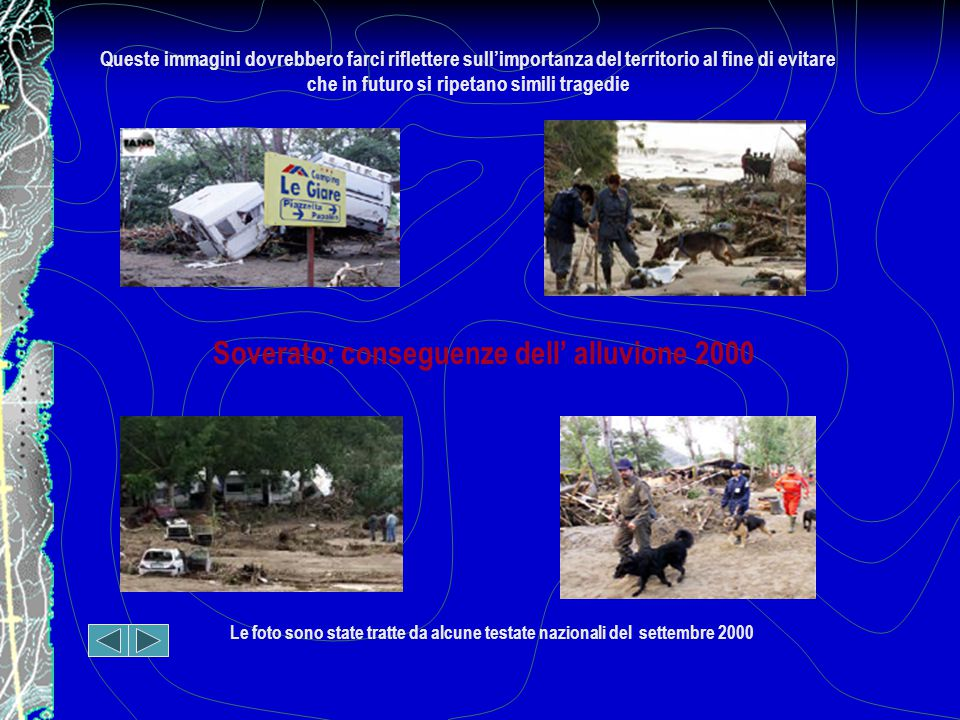 Soverato: conseguenze dell' alluvione 2000