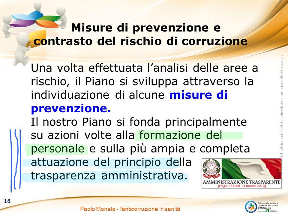 Misure di prevenzione e contrasto del rischio di corruzione