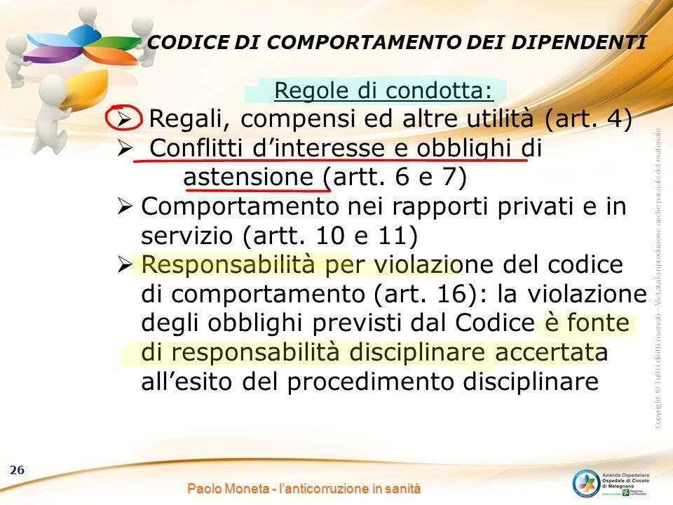 CODICE DI COMPORTAMENTO DEI DIPENDENTI