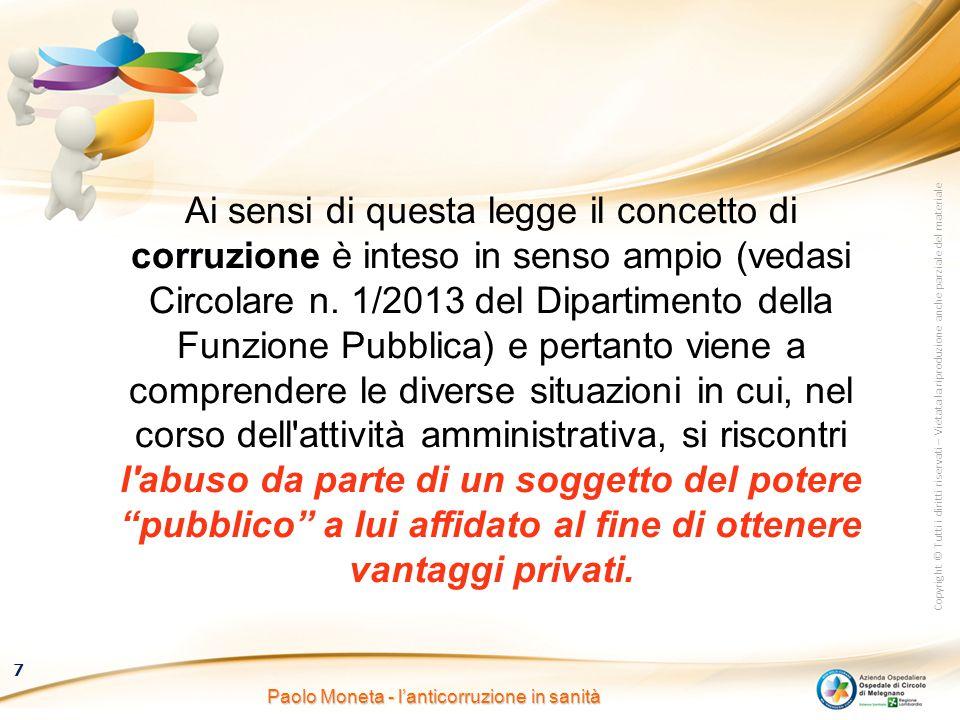 Paolo Moneta - l'anticorruzione in sanità