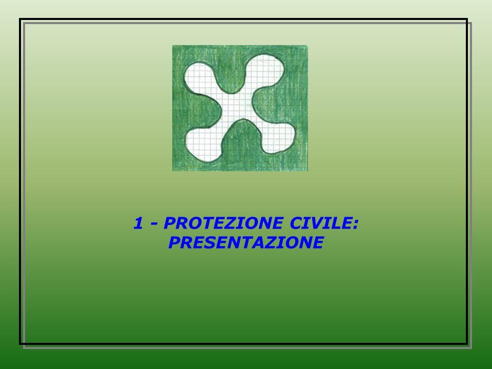 1 - PROTEZIONE CIVILE: PRESENTAZIONE