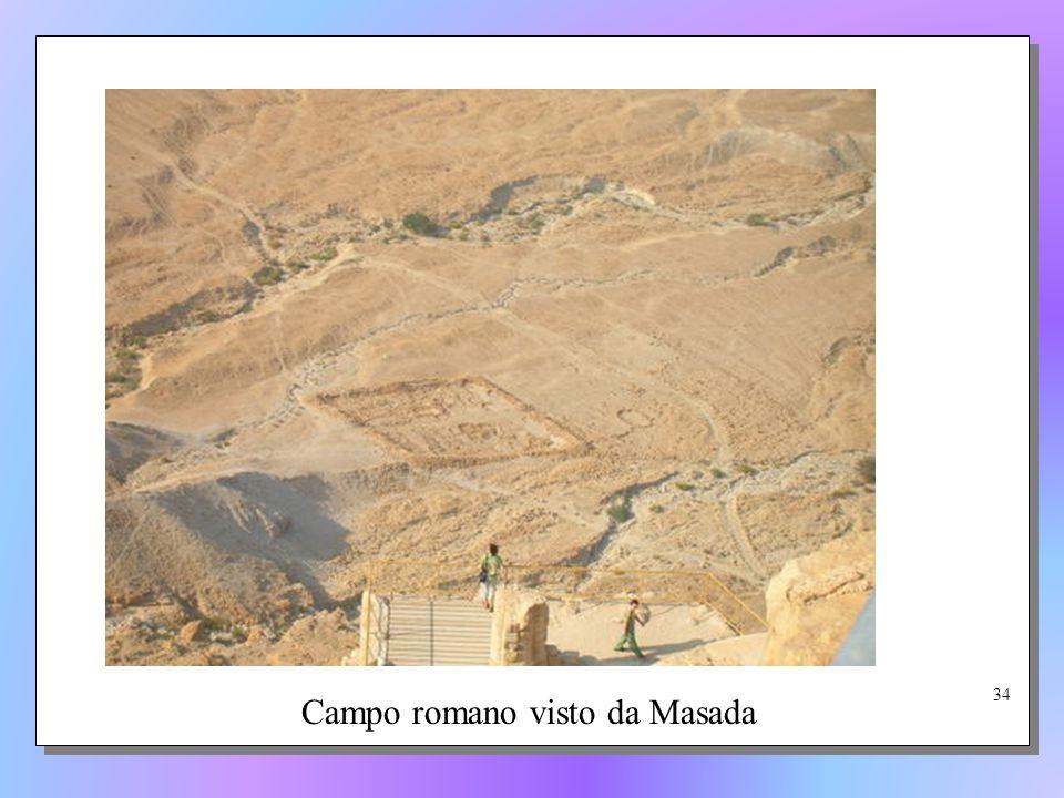 Campo romano visto da Masada