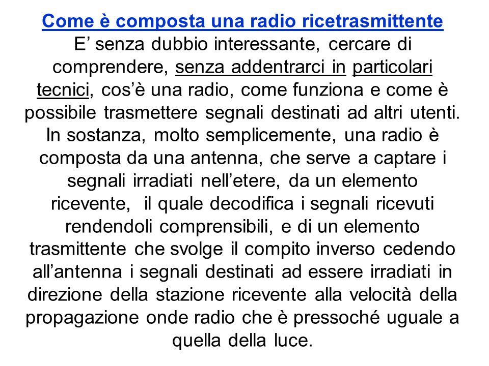 Come è composta una radio ricetrasmittente