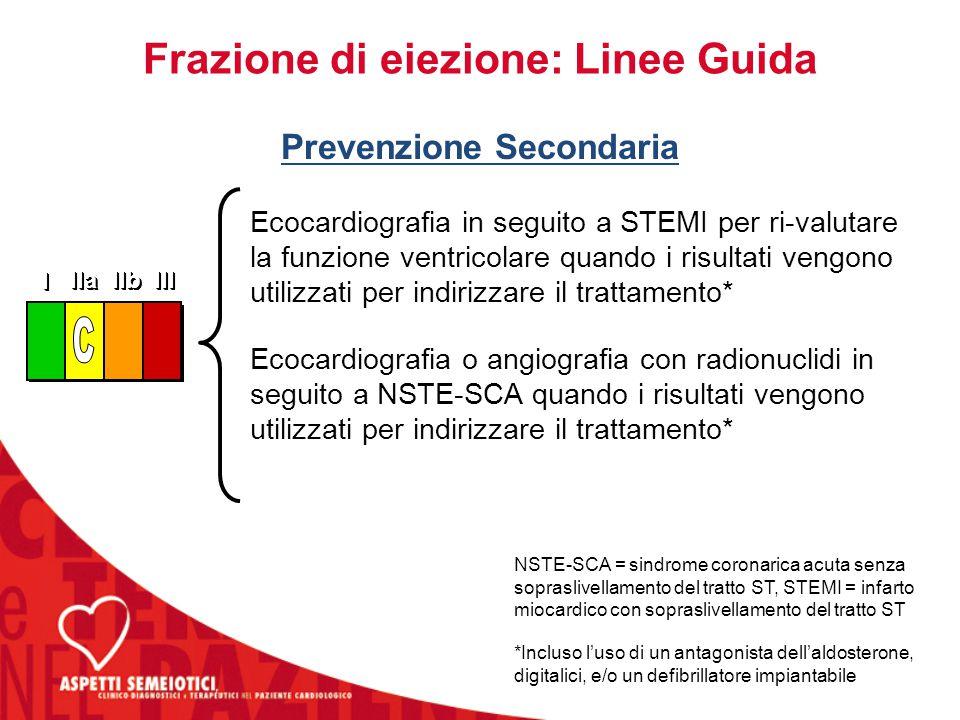 Frazione di eiezione: Linee Guida Prevenzione Secondaria