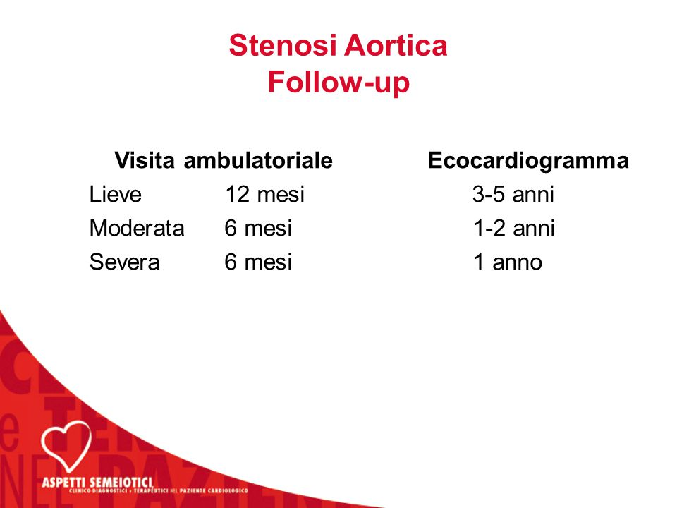 Stenosi Aortica Follow-up