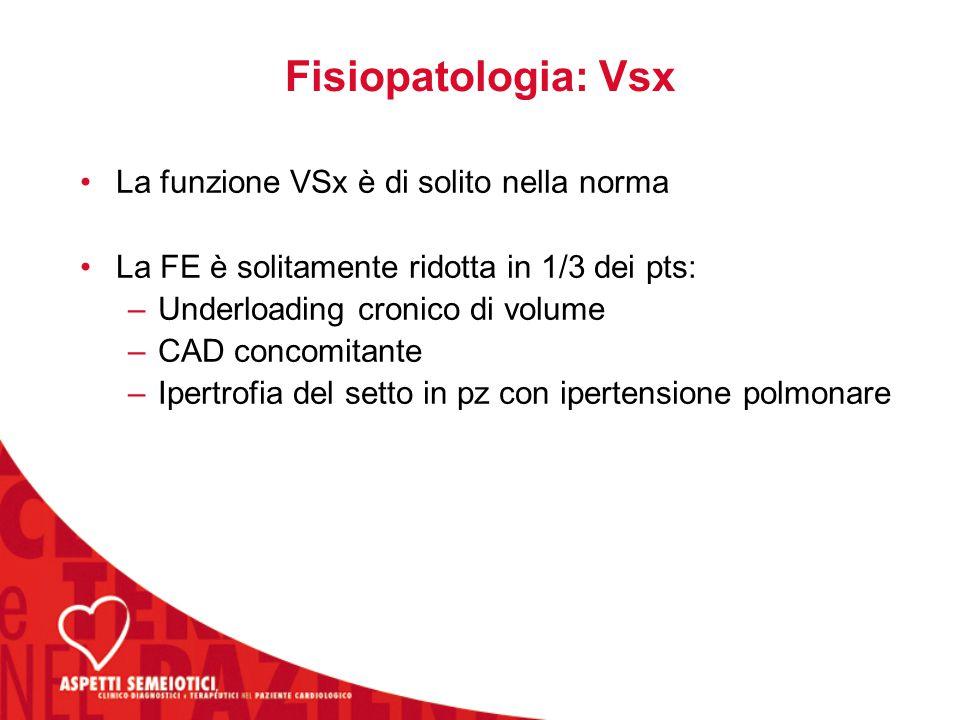 Fisiopatologia: Vsx La funzione VSx è di solito nella norma