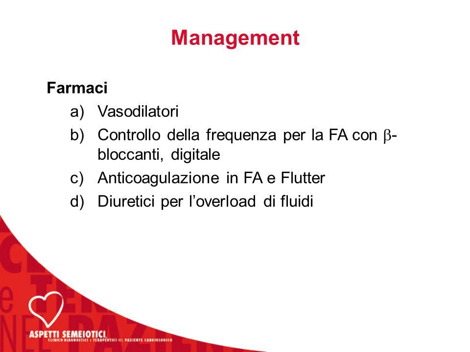 Management Farmaci Vasodilatori