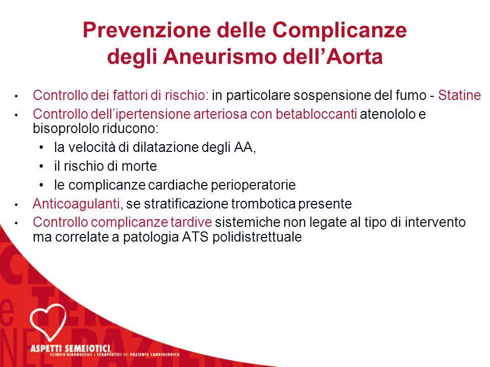 Prevenzione delle Complicanze degli Aneurismo dell'Aorta