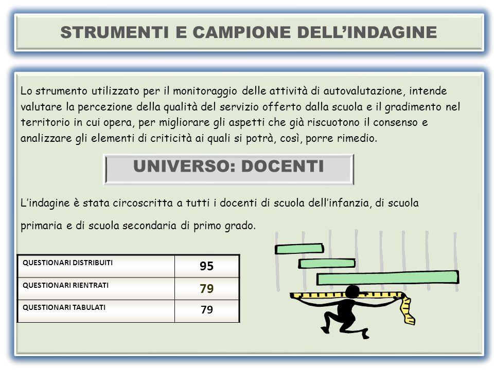 STRUMENTI E CAMPIONE DELL'INDAGINE