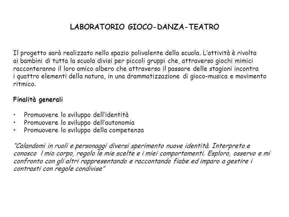 LABORATORIO GIOCO-DANZA-TEATRO