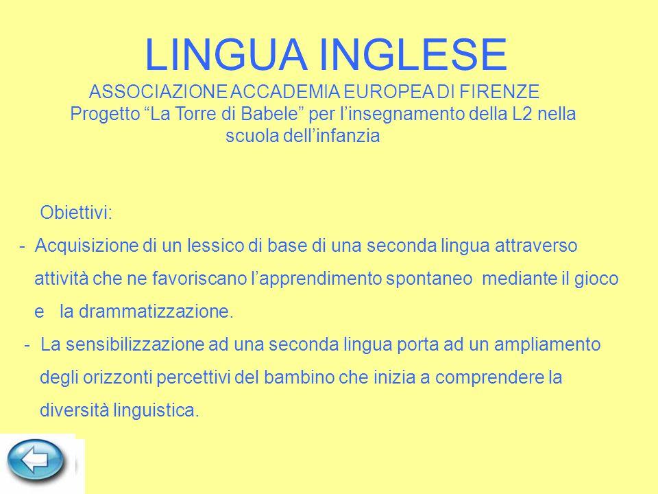 LINGUA INGLESE ASSOCIAZIONE ACCADEMIA EUROPEA DI FIRENZE
