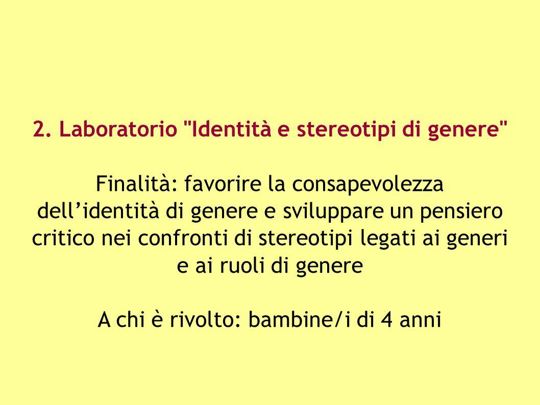 2. Laboratorio Identità e stereotipi di genere