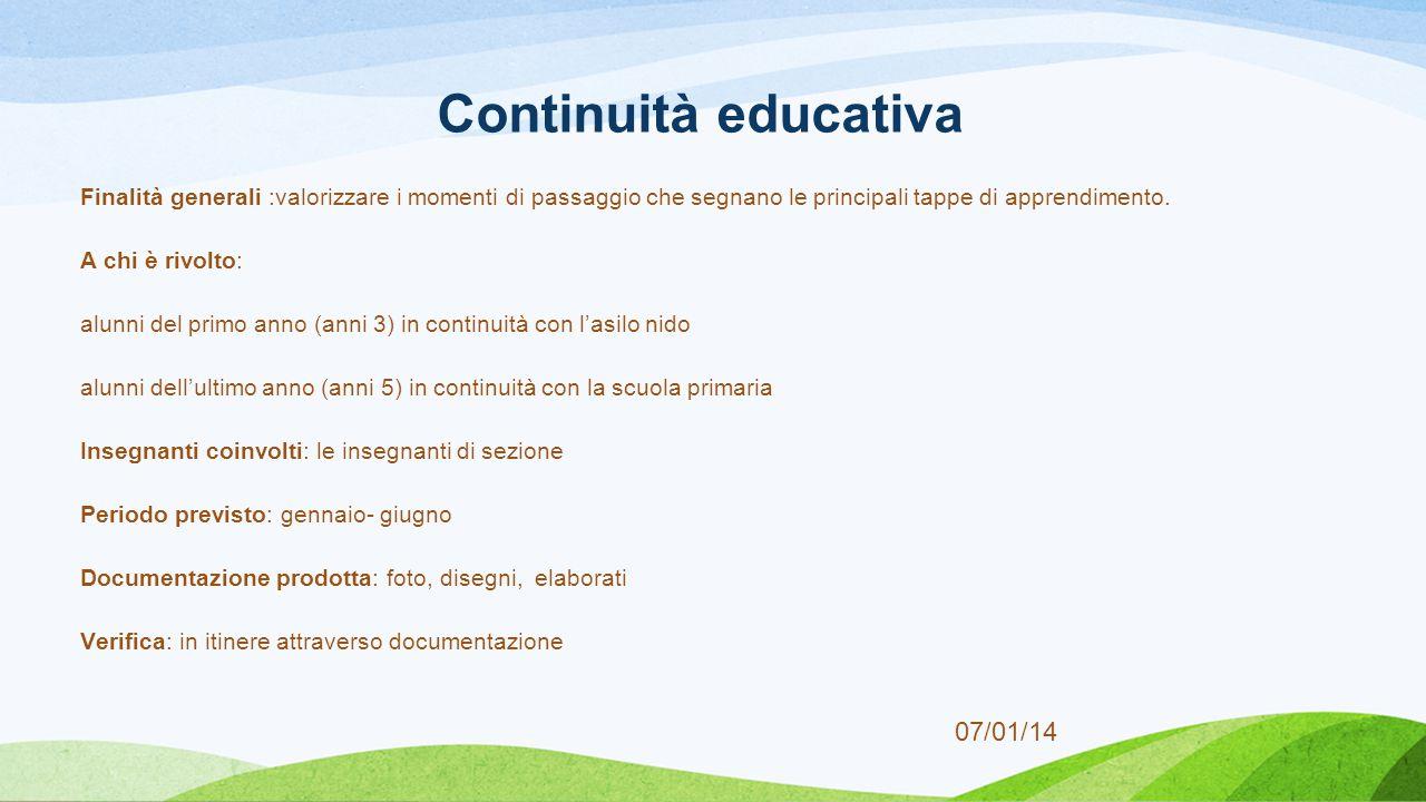 Continuità educativa 07/01/14