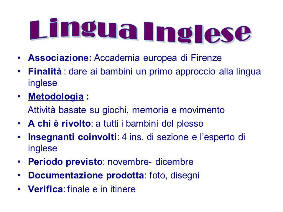 Lingua Inglese Associazione: Accademia europea di Firenze