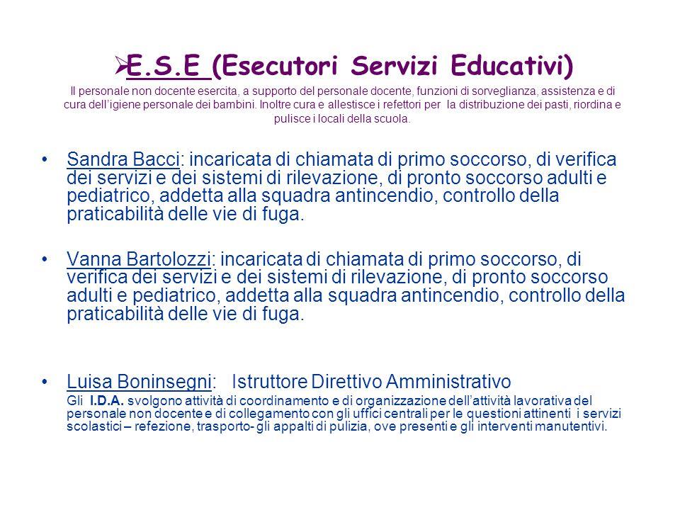 E.S.E (Esecutori Servizi Educativi)