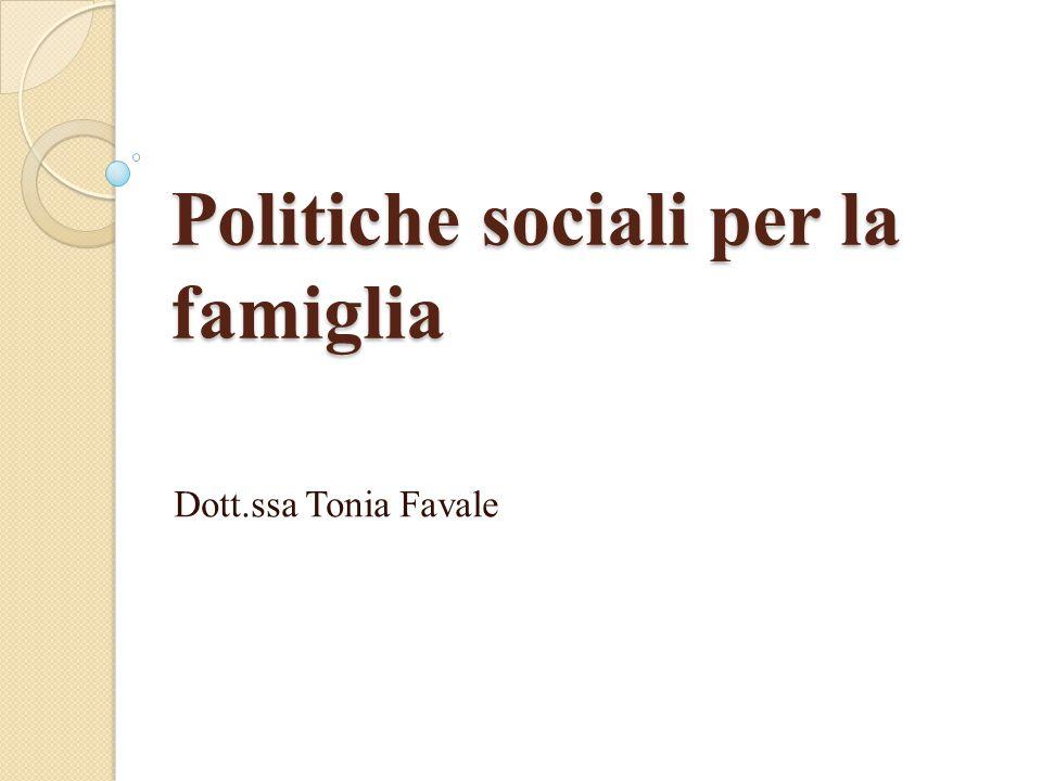 Politiche sociali per la famiglia