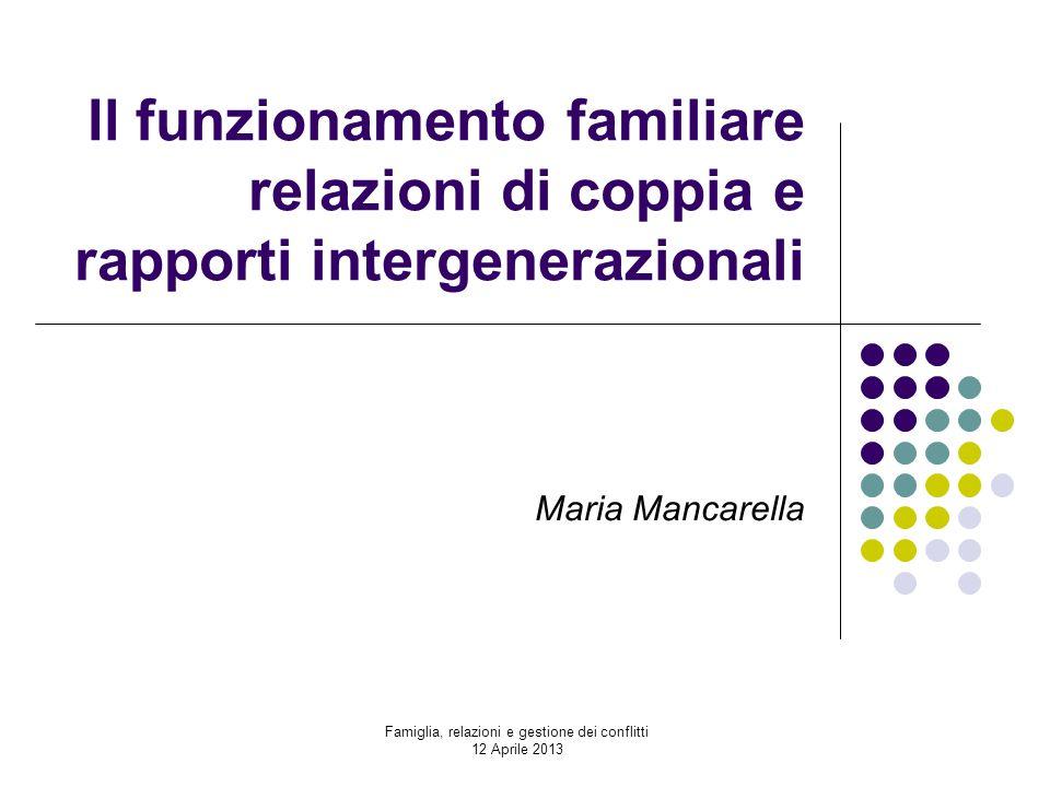 Famiglia, relazioni e gestione dei conflitti