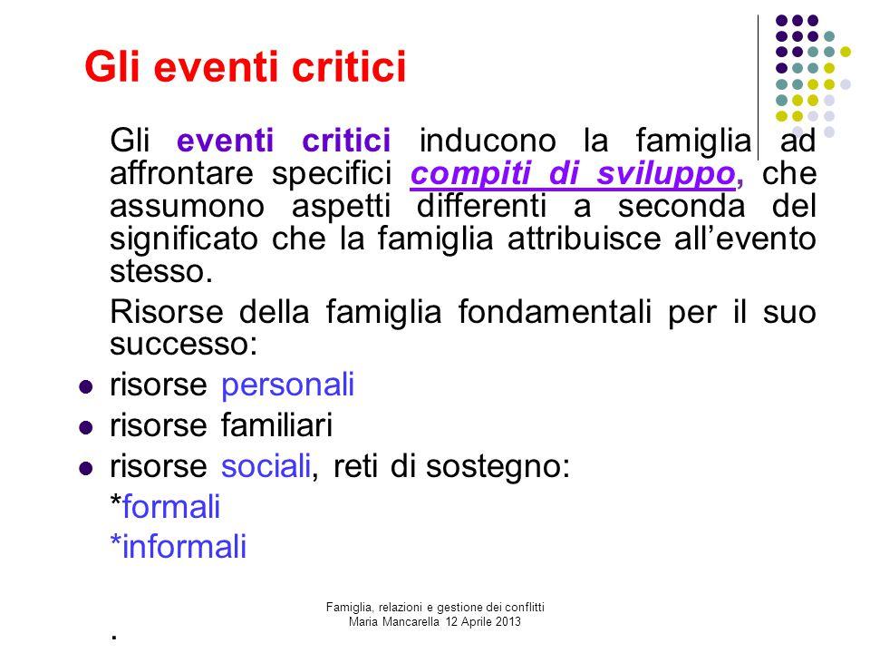 Gli eventi critici
