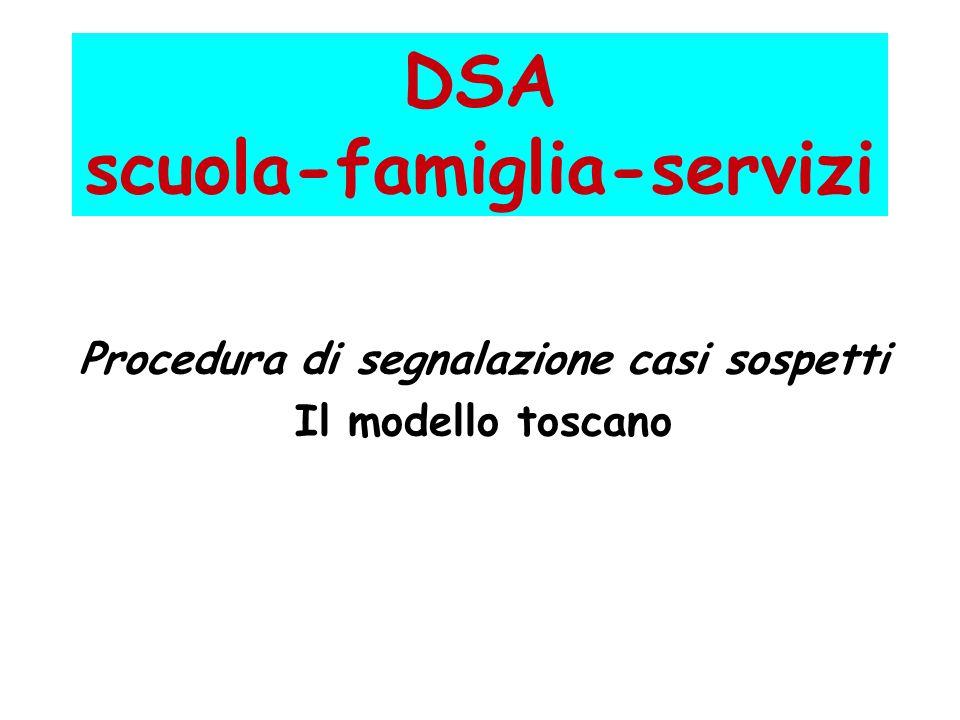 DSA scuola-famiglia-servizi