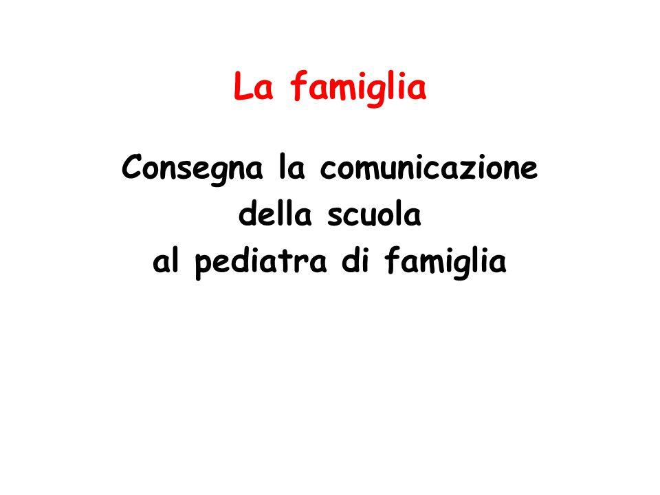 Consegna la comunicazione al pediatra di famiglia