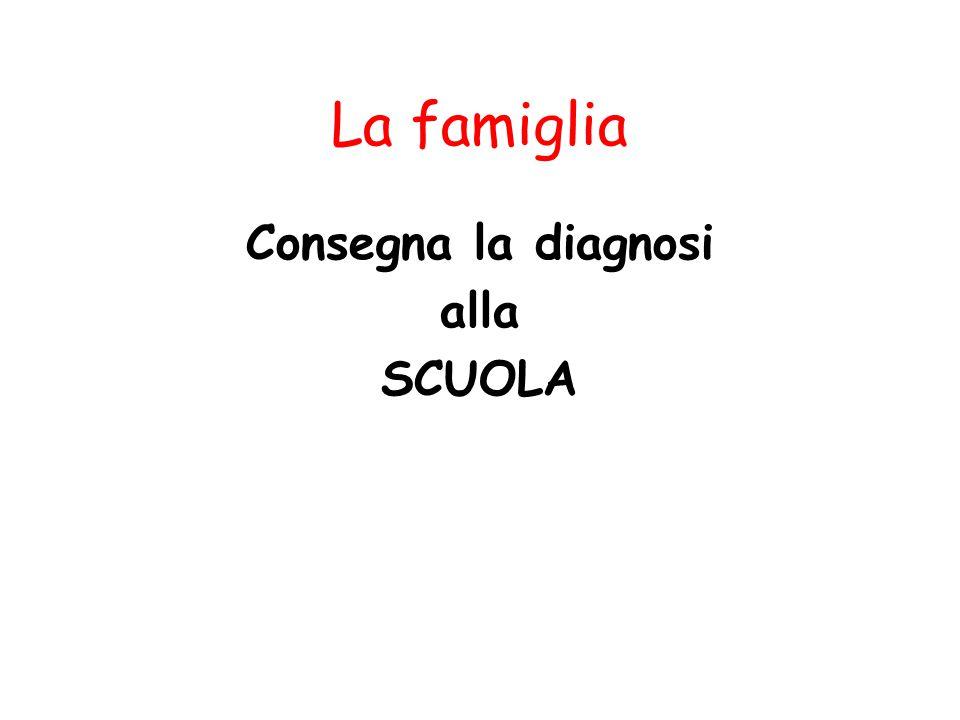 La famiglia Consegna la diagnosi alla SCUOLA