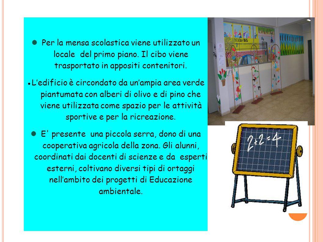 Per la mensa scolastica viene utilizzato un locale del primo piano