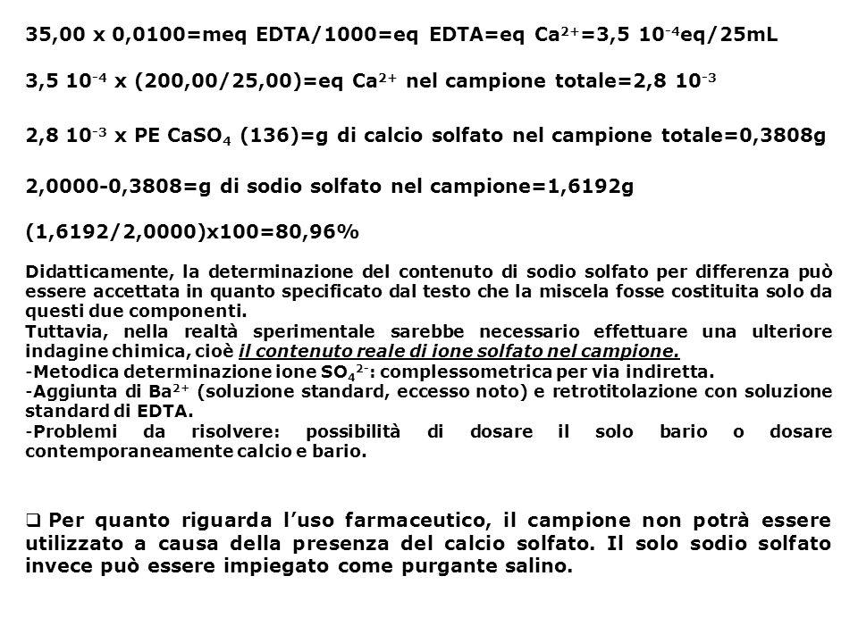 35,00 x 0,0100=meq EDTA/1000=eq EDTA=eq Ca2+=3,5 10-4eq/25mL
